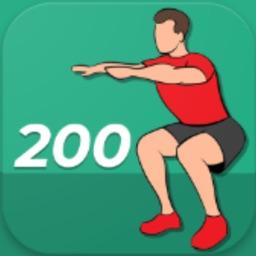 200 Squats Workout Challenge