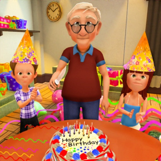 Virtual Grandpa Birthday Party Icon