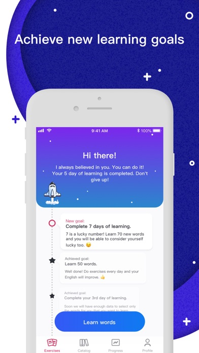 Screenshot for Rocka: Learn English in United States App Store