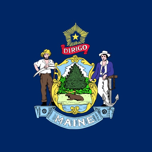 Maine state - USA stickers