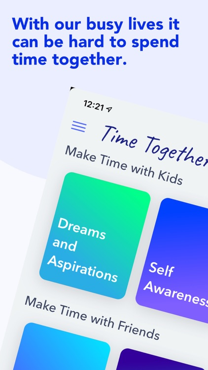 Time Together Family Questions screenshot-0