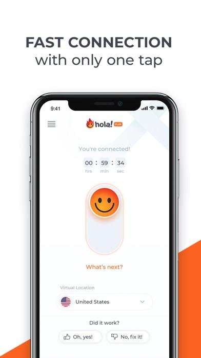 Hola VPN Privacy & Security Screenshot