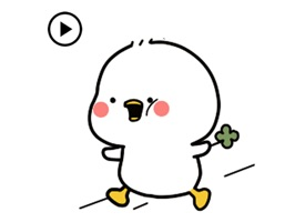 Animated Happy Chicken Sticker