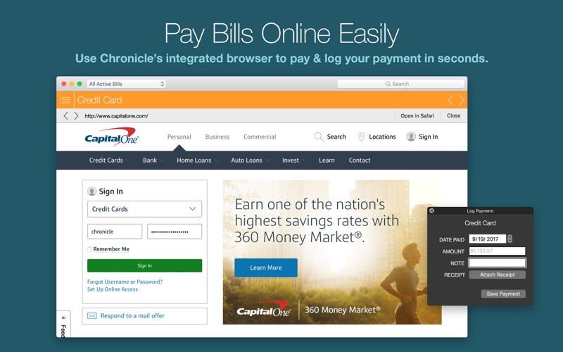 Chronicle Pro- Bills & Income Screenshots