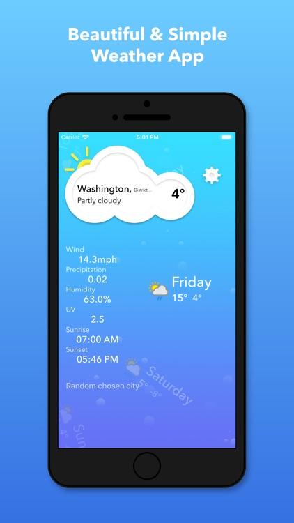 Simple Weather+ Forecast screenshot-0
