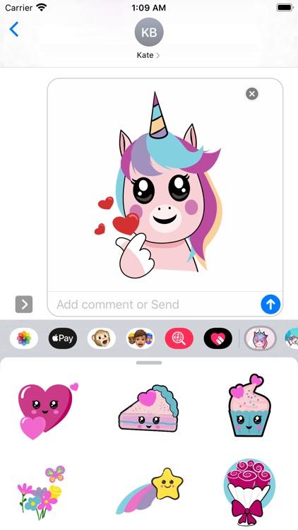 Unicorn Valentine Sticker screenshot-6