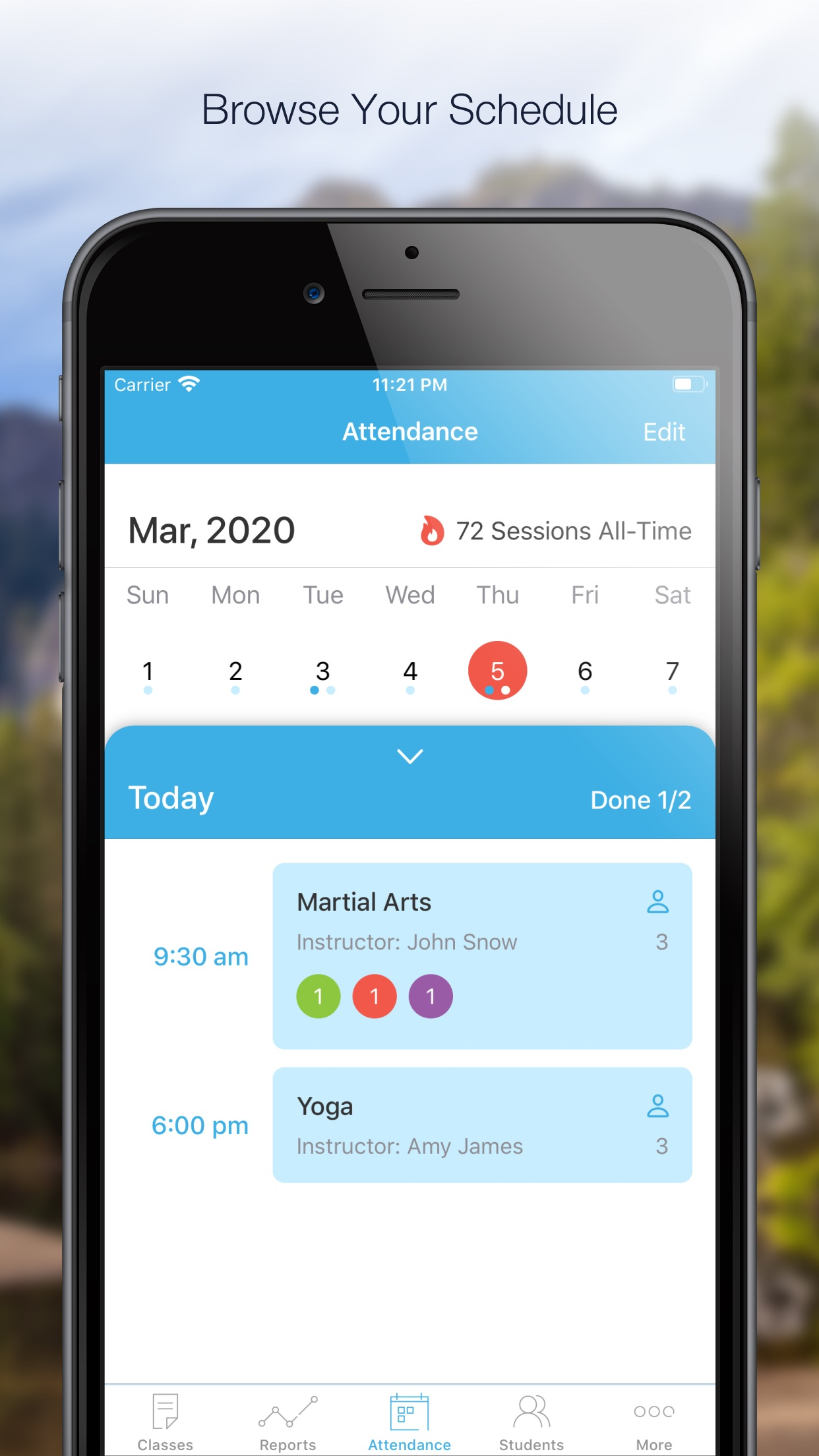 Alora - Attendance Tracker App Screenshot