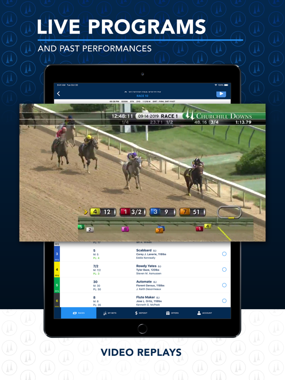 iPad Image of TwinSpires Horse Race Betting