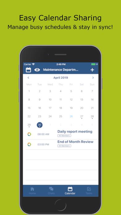 Workbase. Team Schedule Group.Screenshot of 2