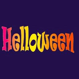 Halloween stickers and emoji