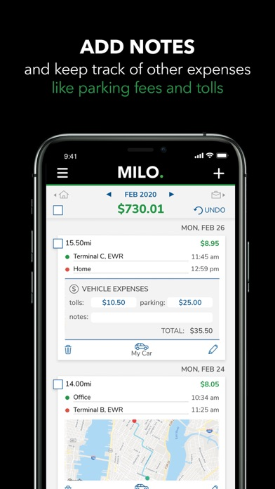 Mileage tracker by Milo Screenshot