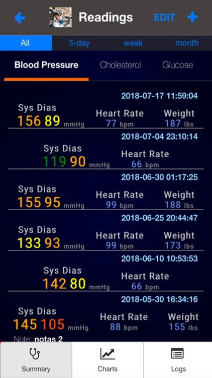 Health Logger screenshot-3