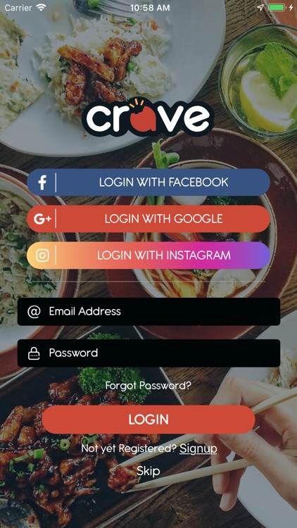 Crave - Food Delivery