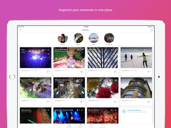 Moments–private shared albums-ipad-2