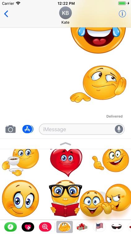 Funny Emoji Sticker Pack screenshot-3