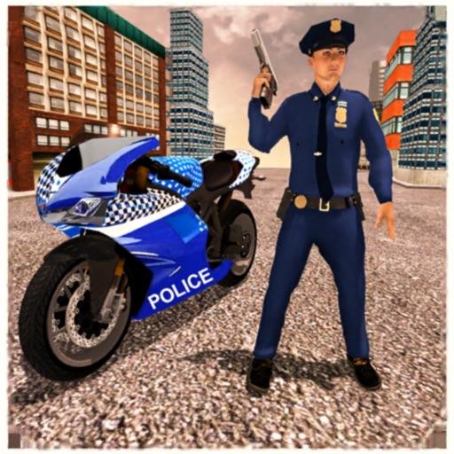 US Police Moto Bike Chase