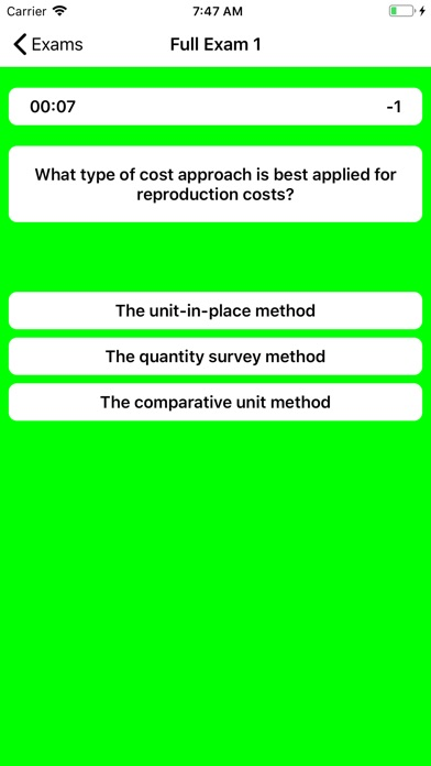 Real Estate Appraiser Exam screenshot 4