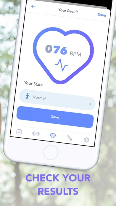 Pulse Log. HealthRate Screenshot