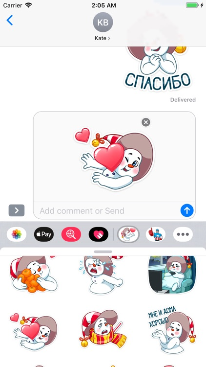 The Smiley Snowman Stickers screenshot-7