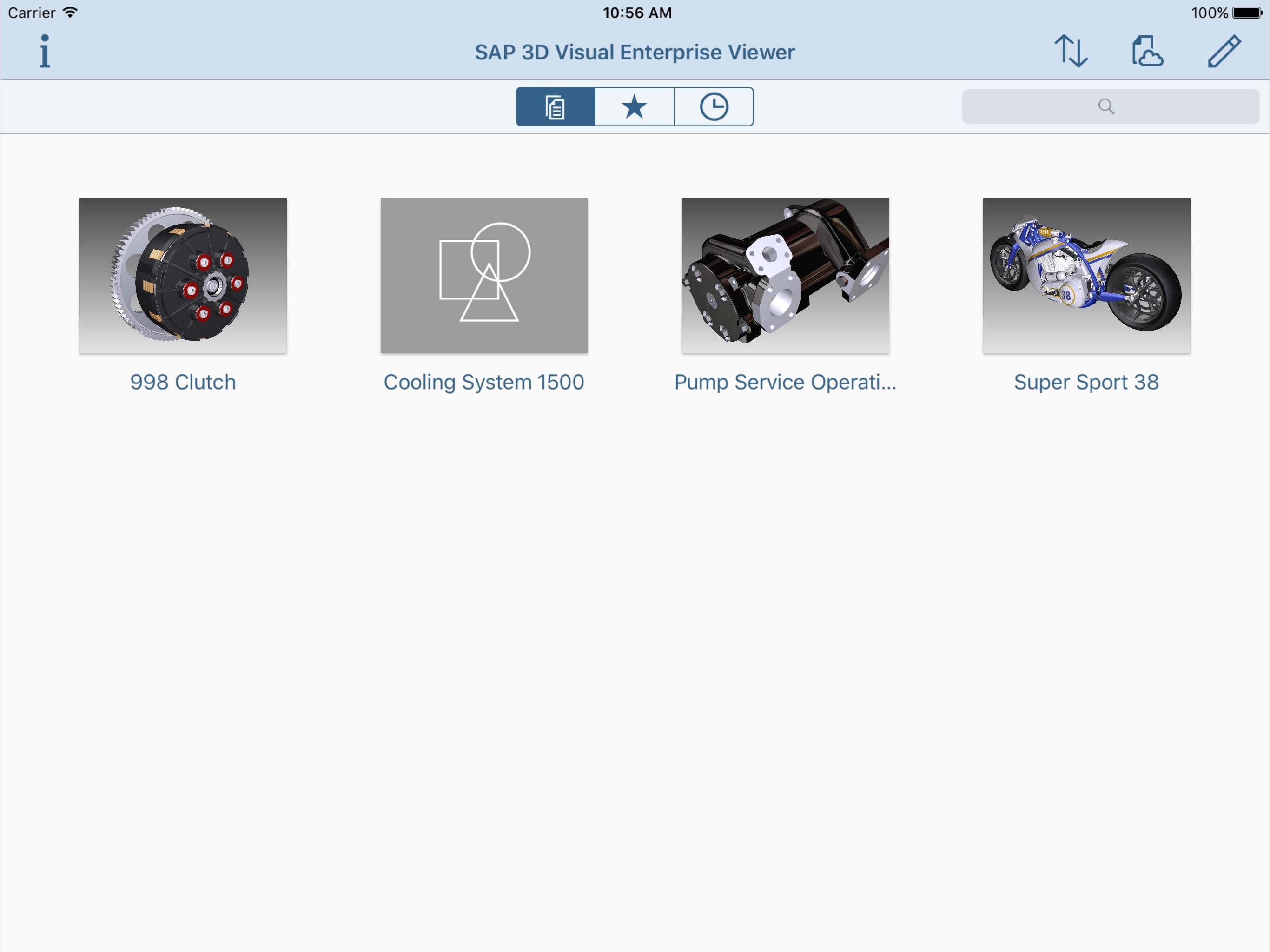 SAP Visual Enterprise Viewer Screenshot