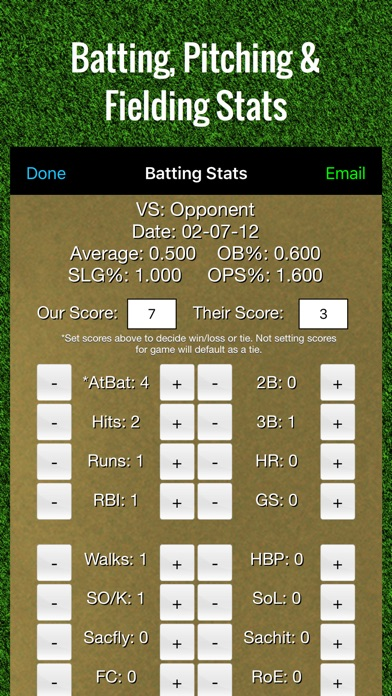 Screenshot for Baseball Stats Tracker Touch in United States App Store