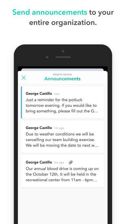 Pronto Team Communication screenshot-4