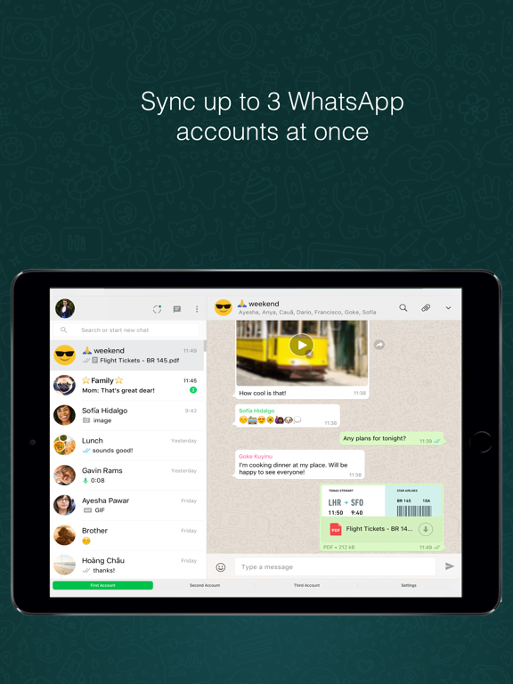 iPad Image of Messenger for WhatsApp Web