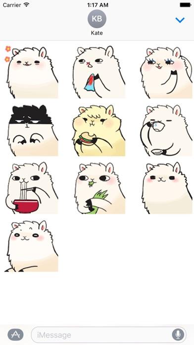 Animated Lovely Alpaca Sticker screenshot 2