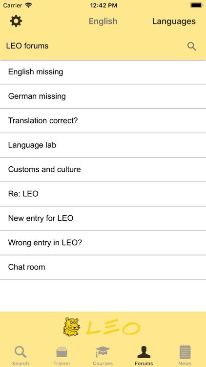 LEO dictionary screenshot-9
