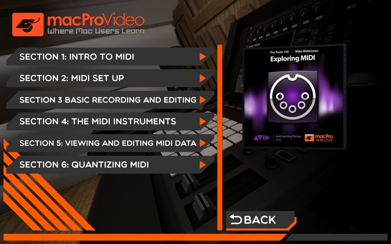 mPV Exploring MIDI Course 105 for Mac