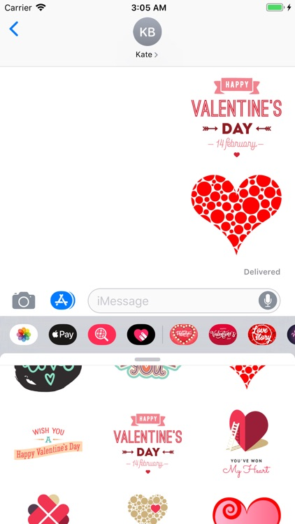Valentines Day Stickers Pack
