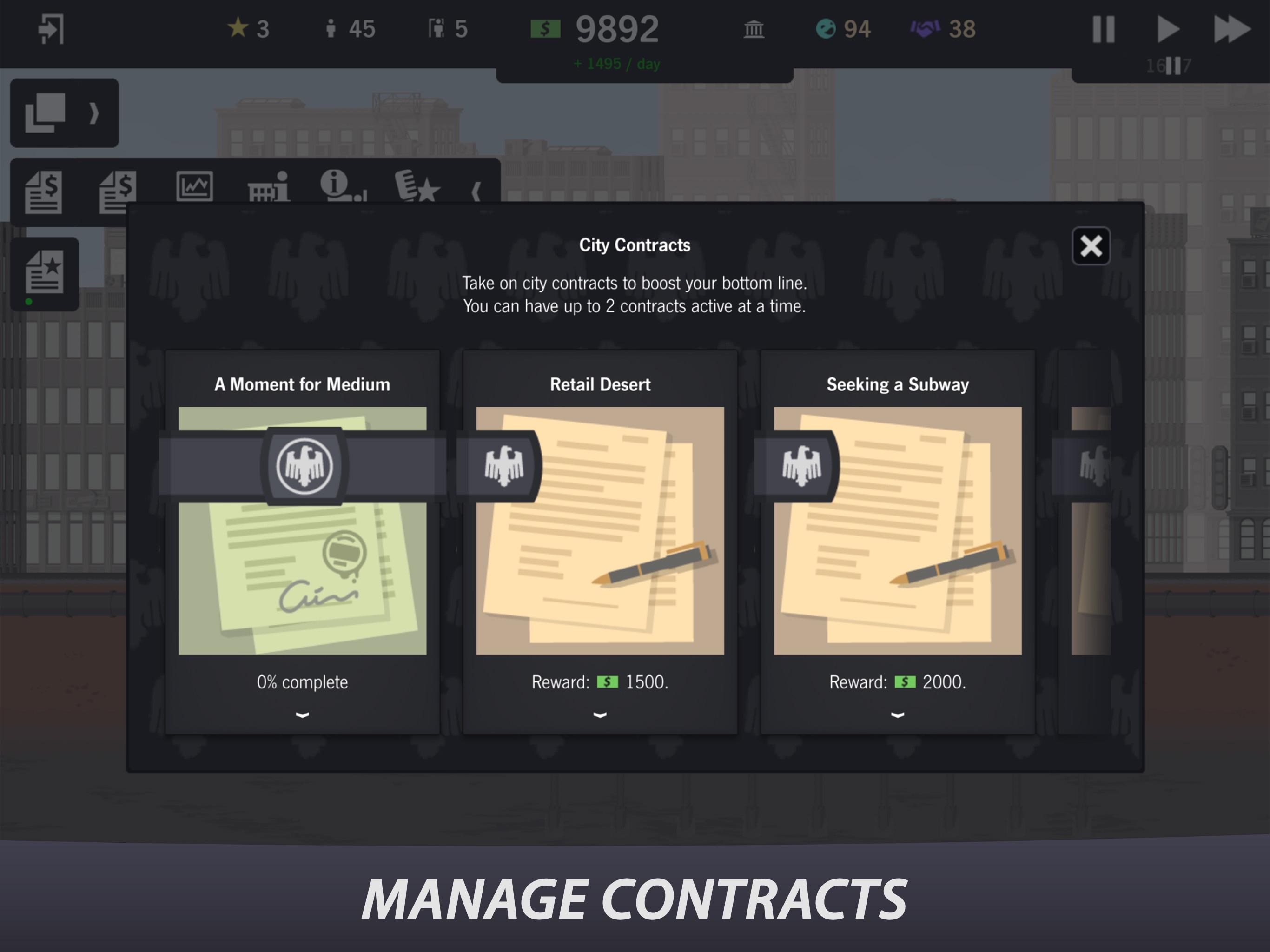 Screenshot do app Project Highrise