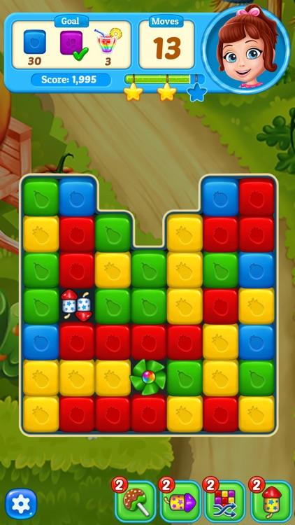Fruit Cube Blast: Match 3 Game screenshot-4