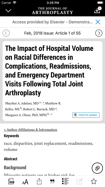 The Journal of Arthroplasty screenshot-4
