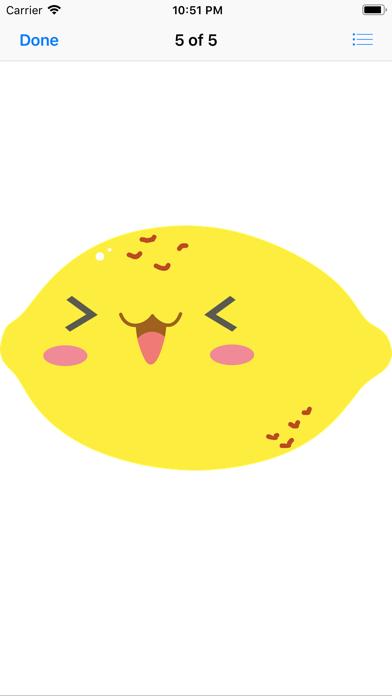 Happy Fruit Stickers app image