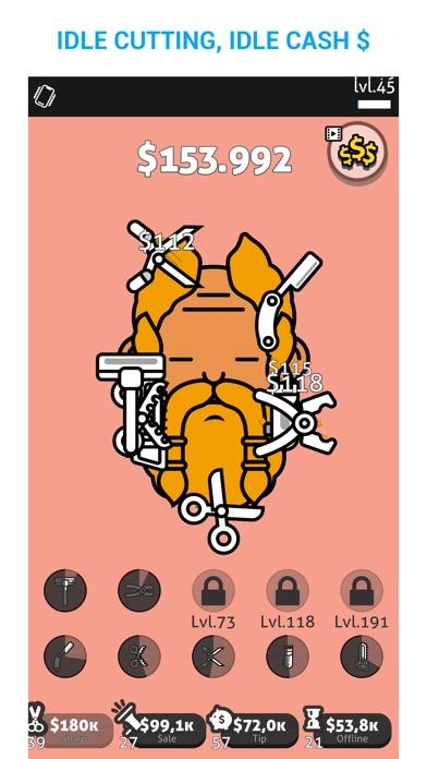 Screenshot of Hair Cut Idle App
