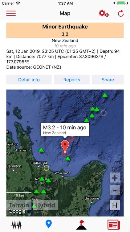 Volcanoes & Earthquakes screenshot-3