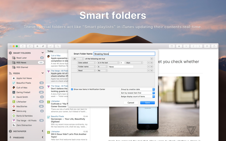 Screenshot do app ReadKit: Read Later and RSS
