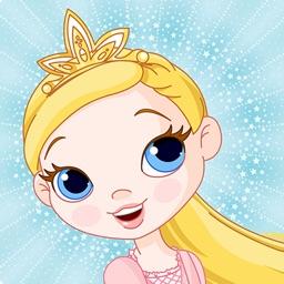 Matching family game: Princess
