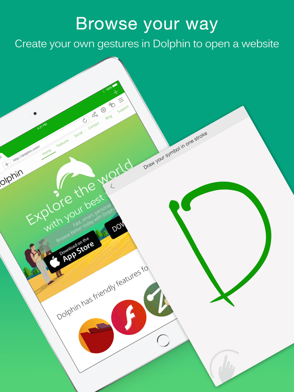 Dolphin Web Browser for iPad iPad app afbeelding 3