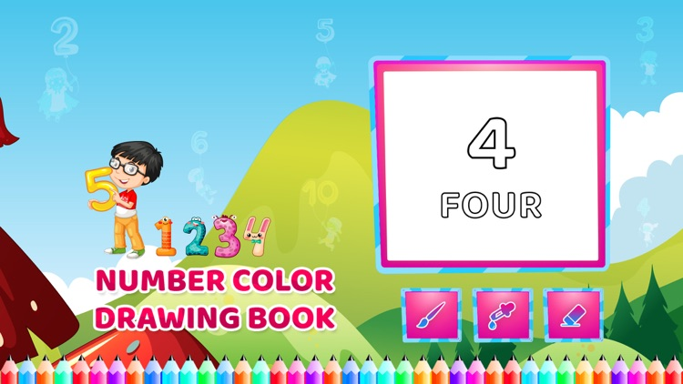 Number Colour Drawing Book
