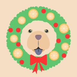 Christmas Stickers Chow Chow