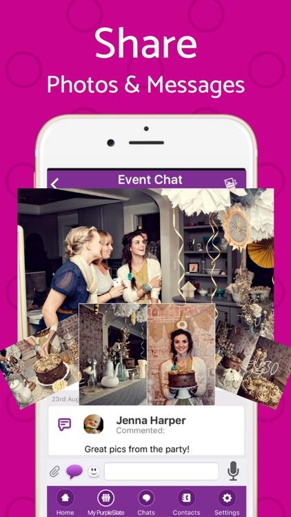Text Invite Maker: PurpleSlate screenshot-8