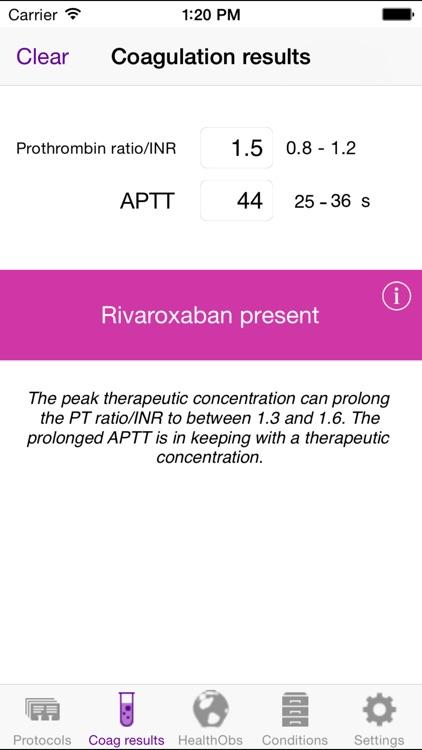 Managing Rivaroxaban screenshot-4