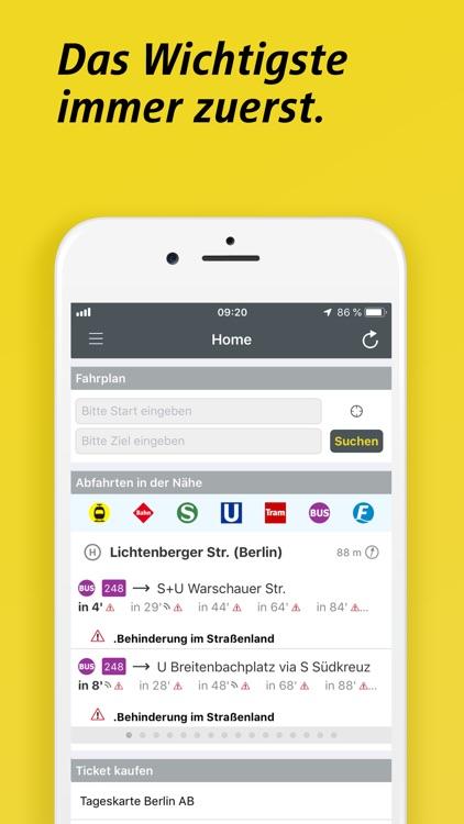 BVG FahrInfo Plus Berlin screenshot-3