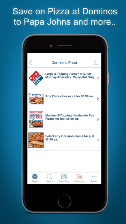 Restaurant Coupons, Food App