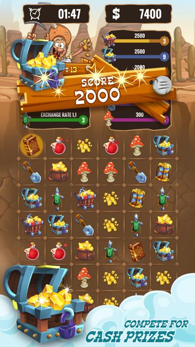 Gold Miner & Match 3 Tycoon screenshot 1