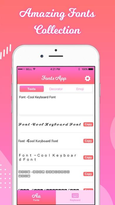 Fonts: Keyboard Screenshot
