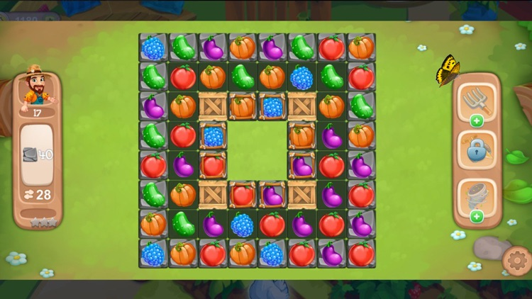 Funny farm - puzzles, match 3.