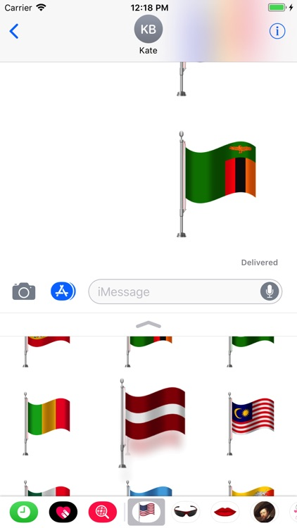 Flags Set Stickers Pro